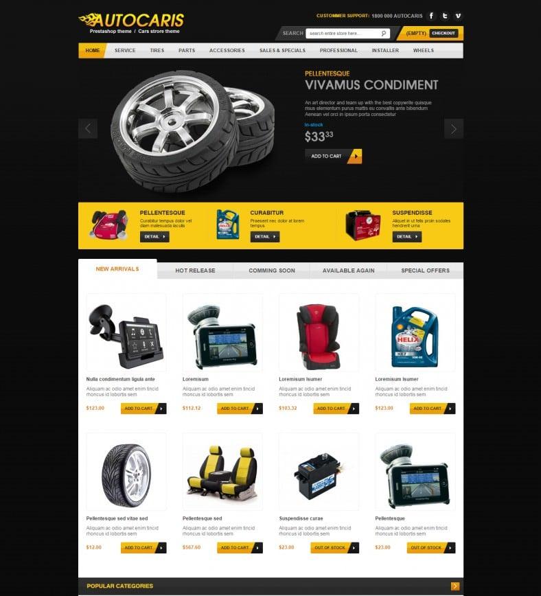 auto parts prestashop theme 788x868