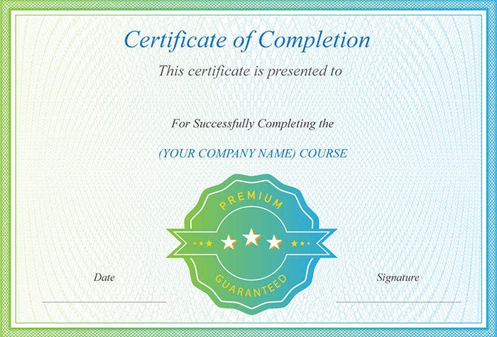68 psd certificate templates free psd format download free this template can be used to create a certificate to recognize the completion of a course the date comes on left bottom and the signature of the yadclub Choice Image