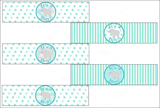 Baby Shower Bottle Labels Template | Water Bottle Label Template 29 Free Psd Eps Ai Illustrator