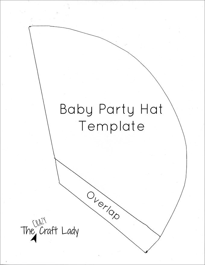 baby party hat template the crazy craft lady free