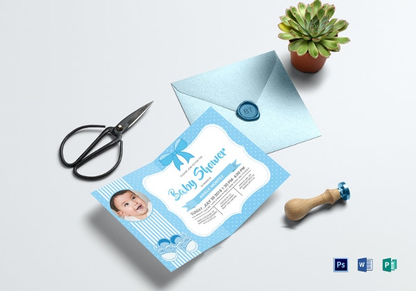baby shower blue invitation card template1