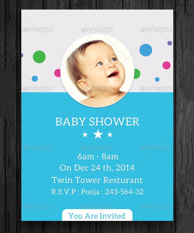 Baby Shower Invitation Template Free PSD Vector EPS AI - Free baby shower invitations templates for word