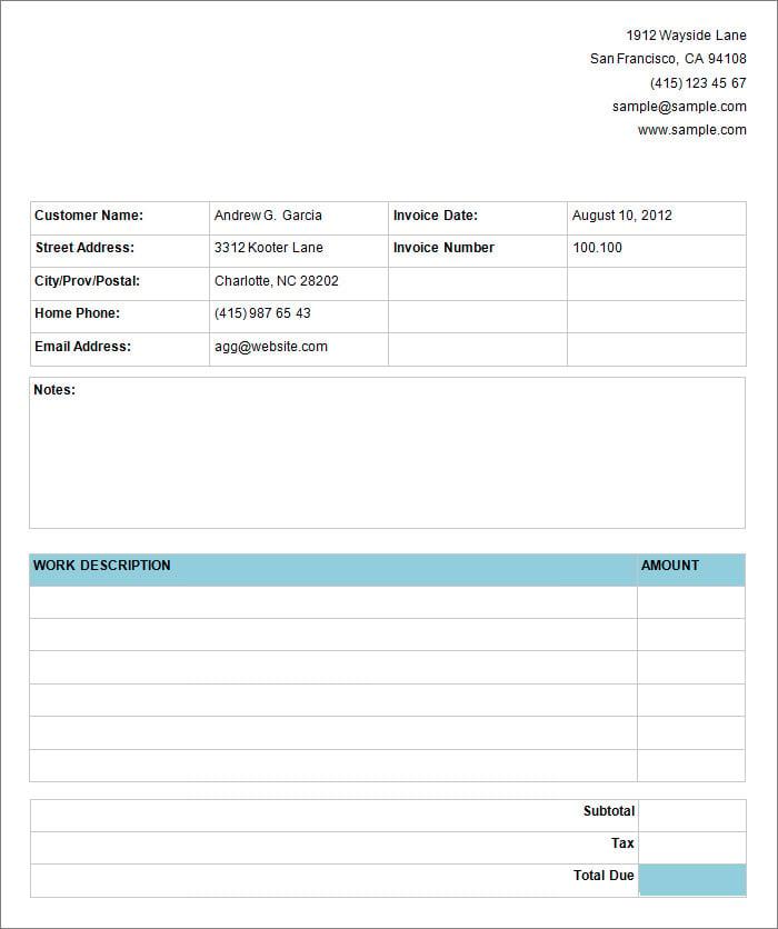 basic service invoice 3
