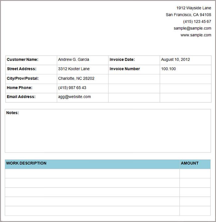 basic service invoice1