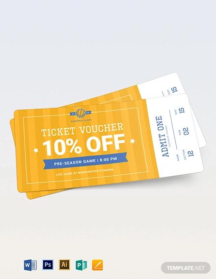 basketball ticket voucher template