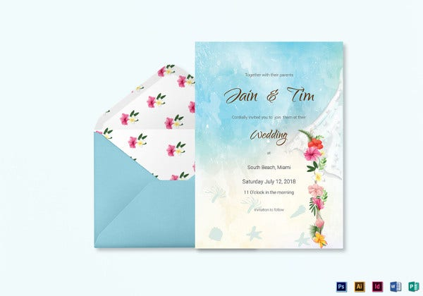 beach-wedding-invitation-card-template