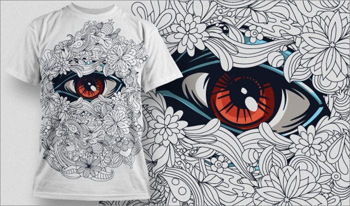 beautiful eye t shirt
