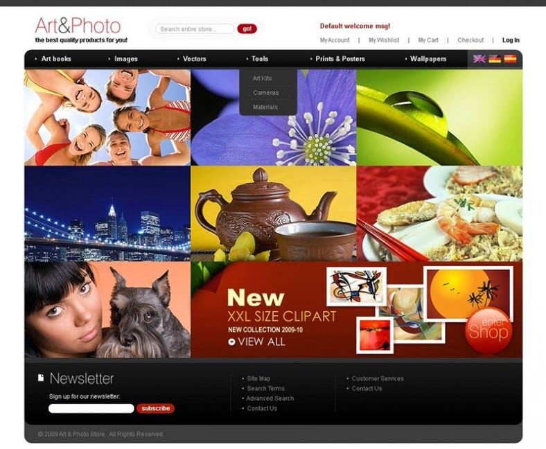 Best Clip Art Magento Template