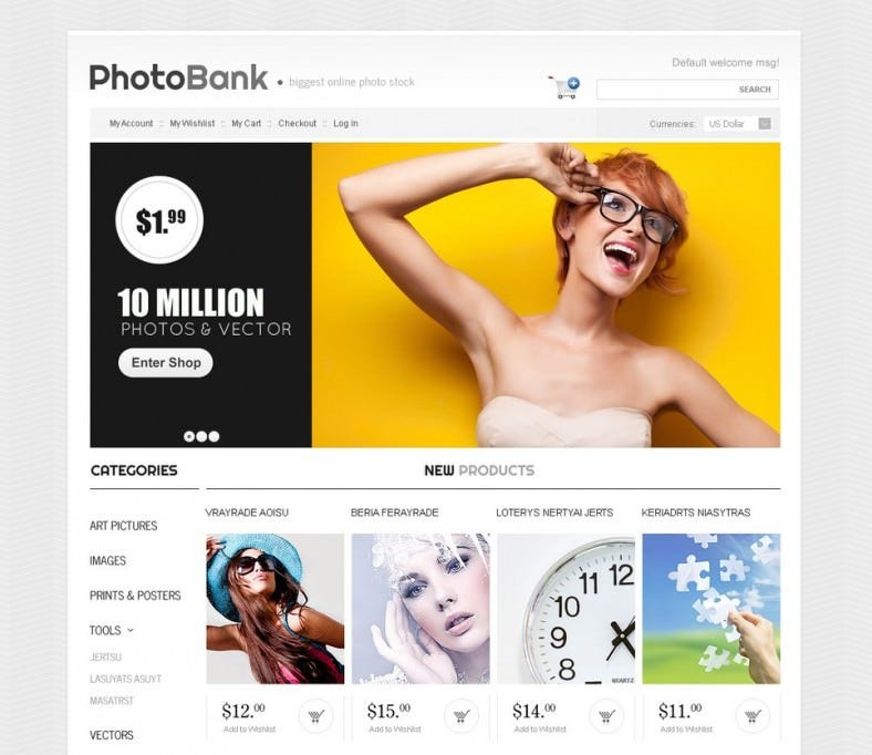 Best Magento Theme for Photo Bank