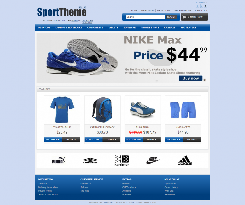 Best OpenCart Sport Theme
