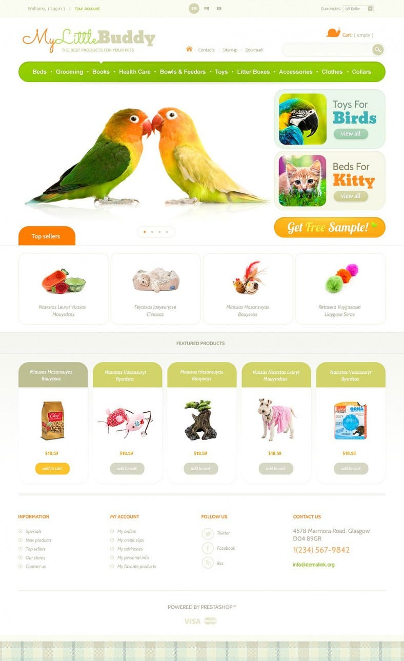 Best PrestaShop Theme for Your Pets