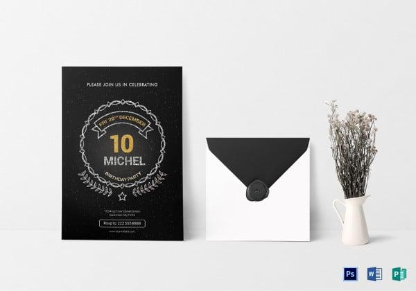 birthday party invitation psd template