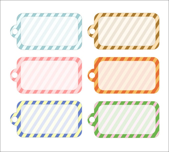 photograph relating to Free Printable Blank Gift Tags known as Reward Tag Template - 27+ Totally free Printable Vector EPS, PSD , AI
