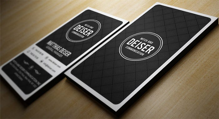 Personal Business Cards Free Premium Templates - Personal business cards template