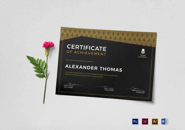 black-certificate-of-achievement-template