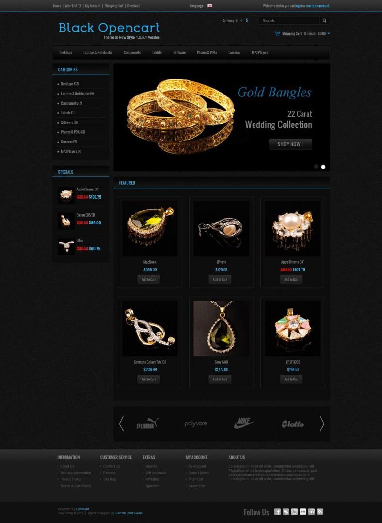black jewelery store opencart template 788x1079