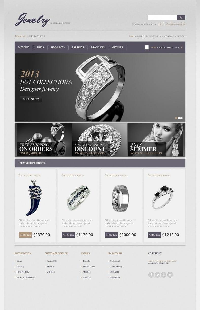 black white jewelry opencart template 788x1222