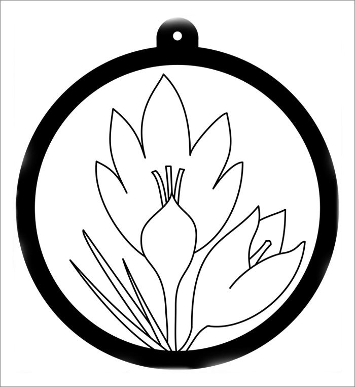 Flower template free templates free premium templates for Blank flower coloring pages