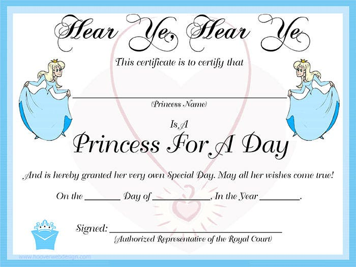 Blank-Princess-For-A-Day-Certificate