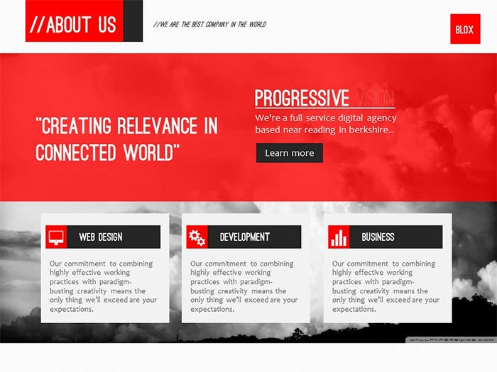 25 business powerpoint template powerpoint templates free blox business powerpoint template wajeb Image collections