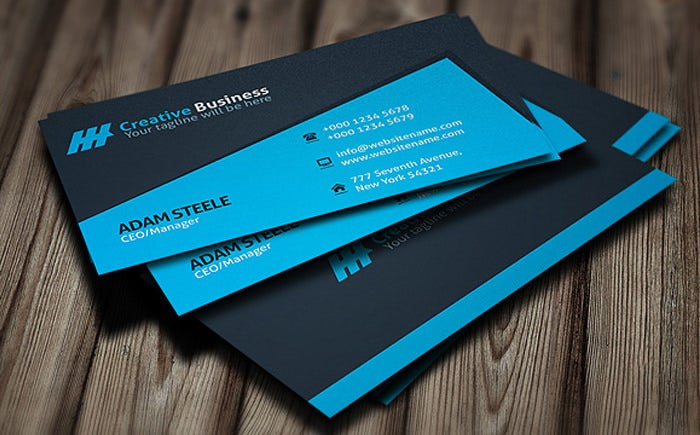 28 personal business cards free premium templates blue creative manager personal business card template fbccfo Gallery