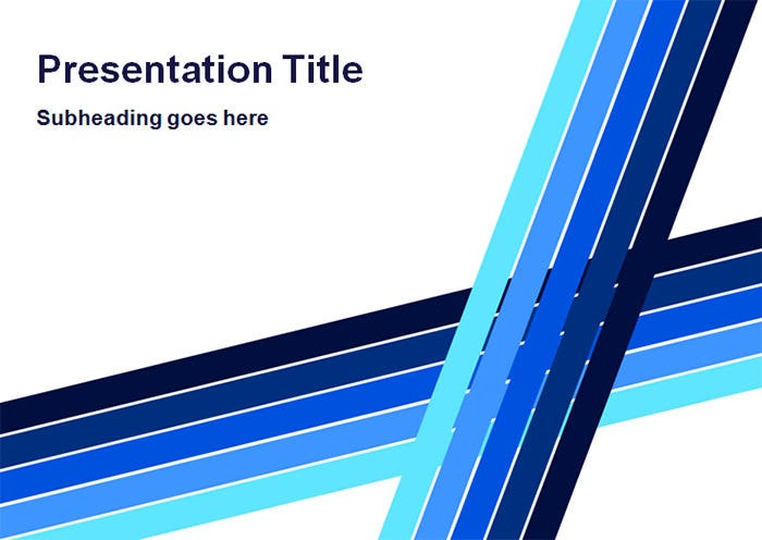 blue lines professional powerpoint template