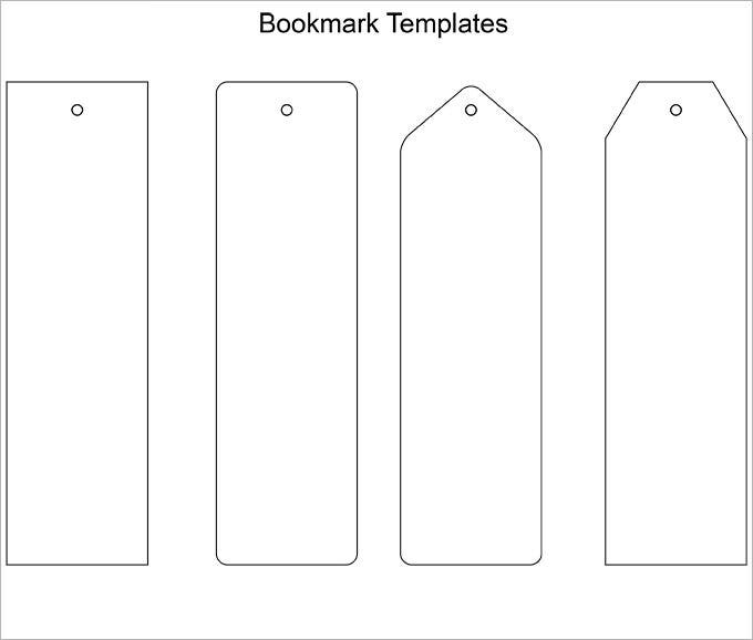 free printable bookmark templates word