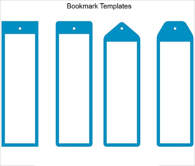 picture regarding Free Printable Bookmark Templates identified as Blank Bookmark Template - 135+ Absolutely free PSD, AI, EPS, Phrase, PDF