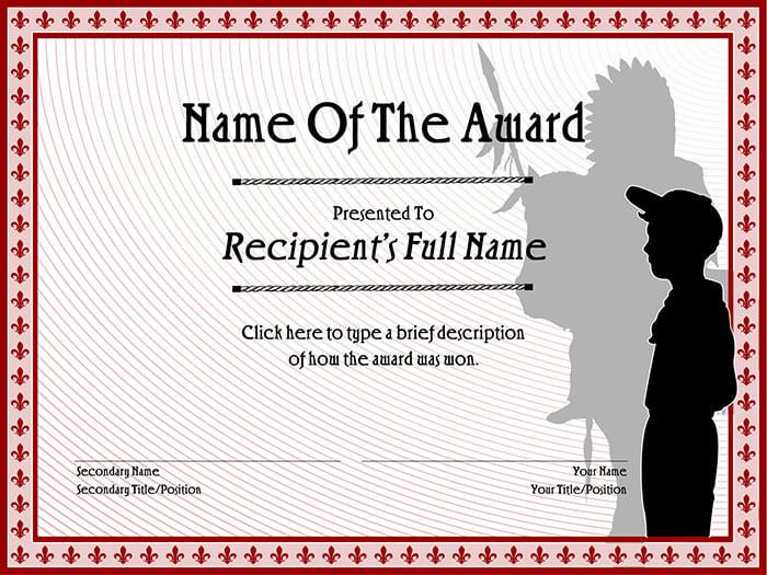 30 Free Printable Certificate Templates to Download – Award Certificate Samples