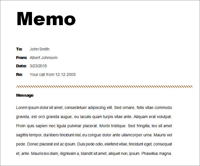 12 memo templates free sample example format free for Telephone memo template