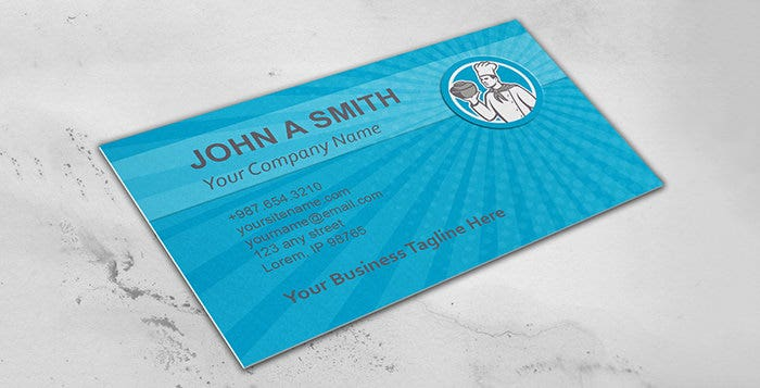 Business Card Template Chef Cook Hol1