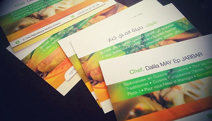 Business Cards Chef Dalila MAY