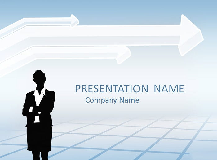 businesswoman powerpoint template