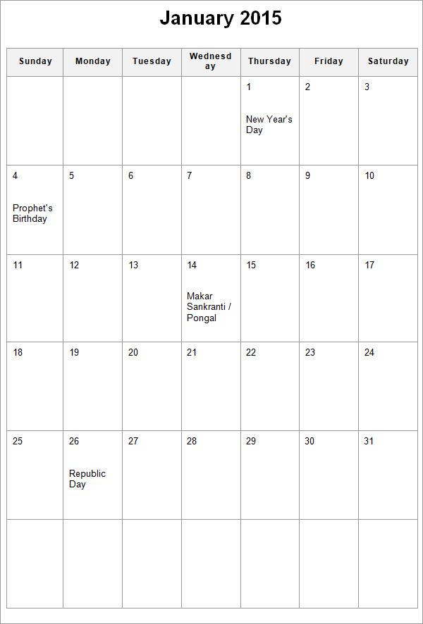 calendar template1