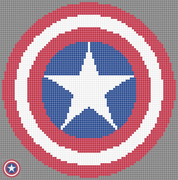 captain america shield free template