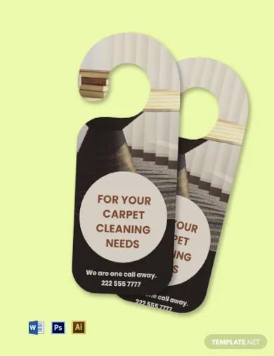 carpet cleaning door hanger template