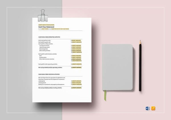 cash flow statement template1
