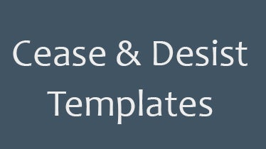 cease and desist templates