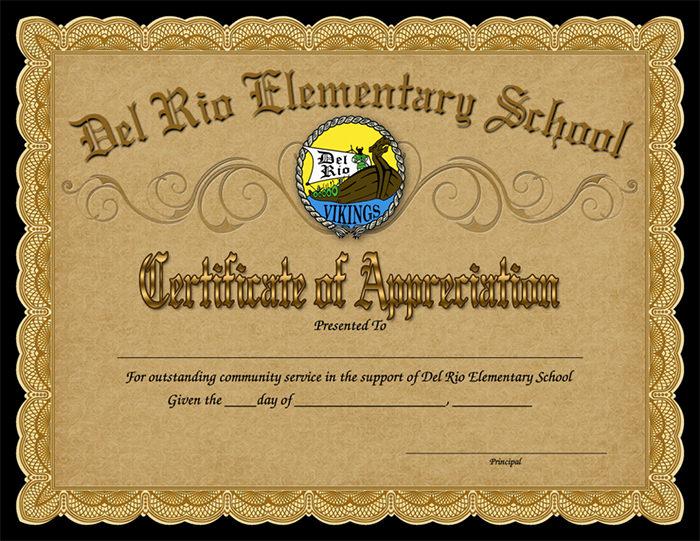 certificate template 8