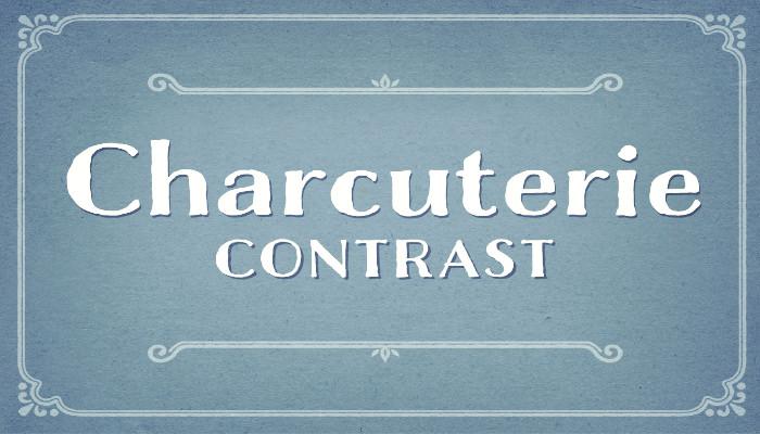 charcuterie contrast