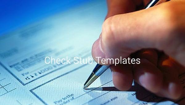 check stub templates