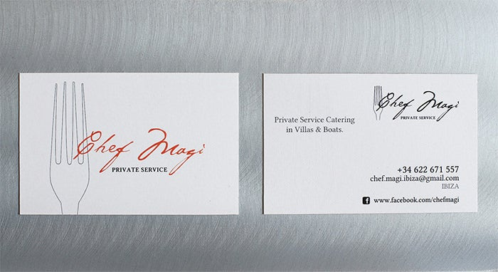 Chef Magi business cards