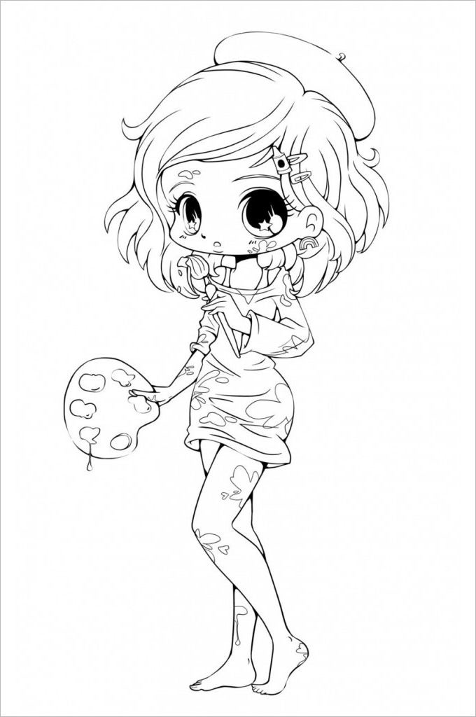 chibi girl template