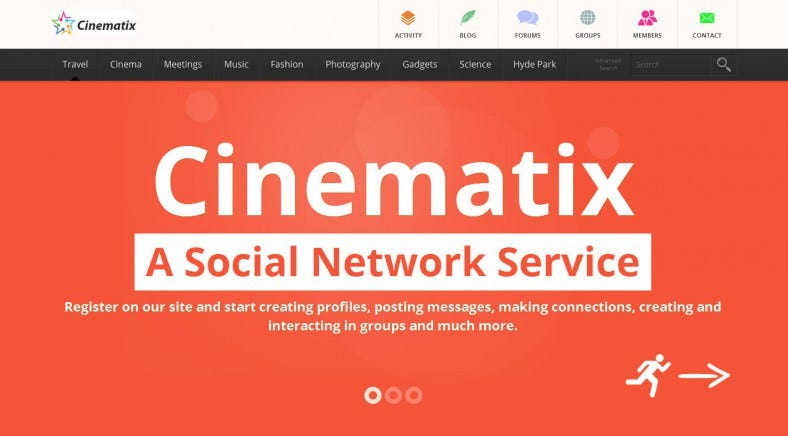 cinematix buddypress theme 788x436