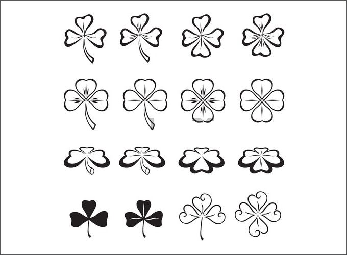 cliparts shamrock free template