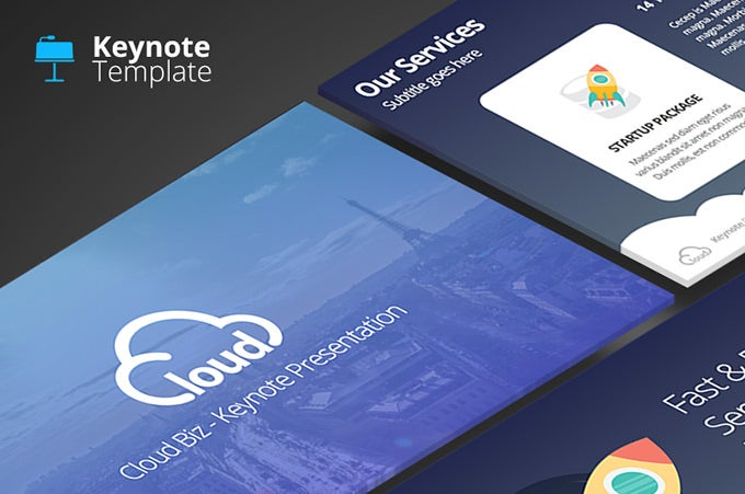 cloud biz keynote template