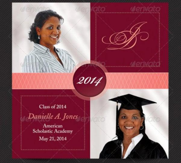 college graduation invitation card template