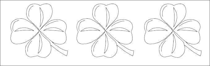 coloring page irish shamrock template