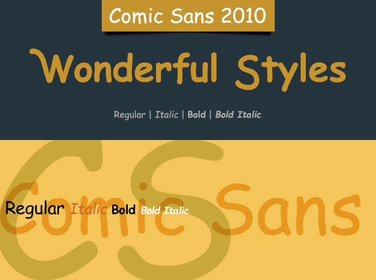 comic sans handwritten script
