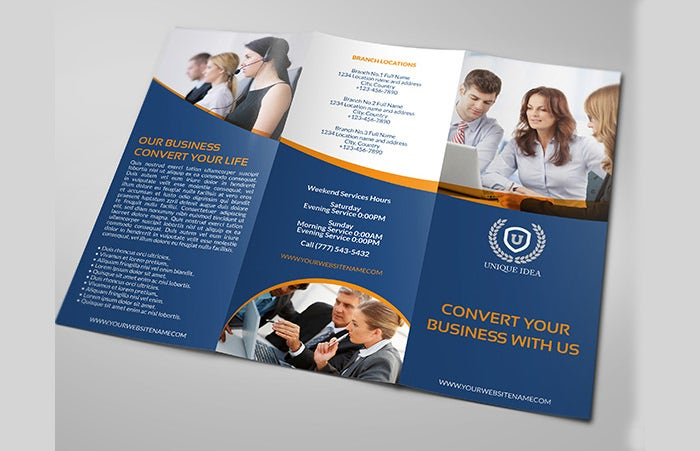 36 psd company brochure templates designs free for Free business brochures templates